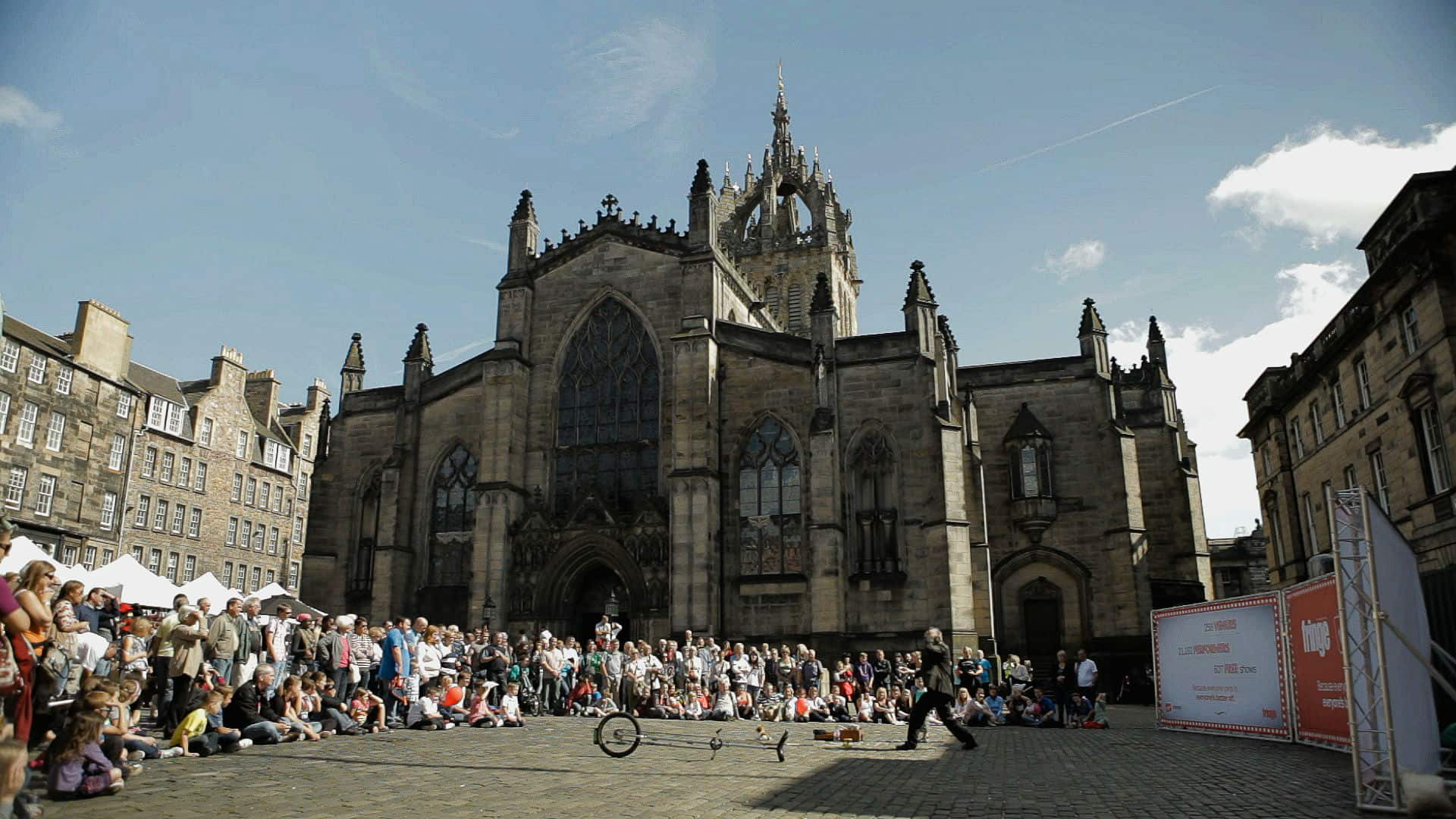 Edinburgh wedding video St Giles Cathedral