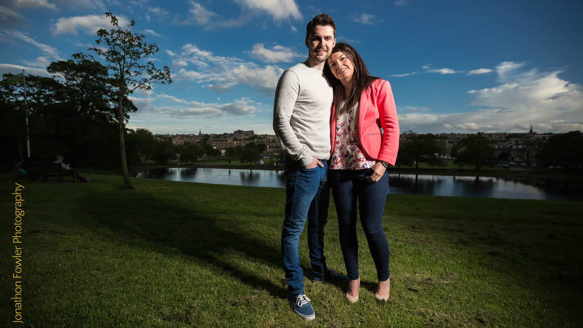 engagement photo shoot at Inverleith Park
