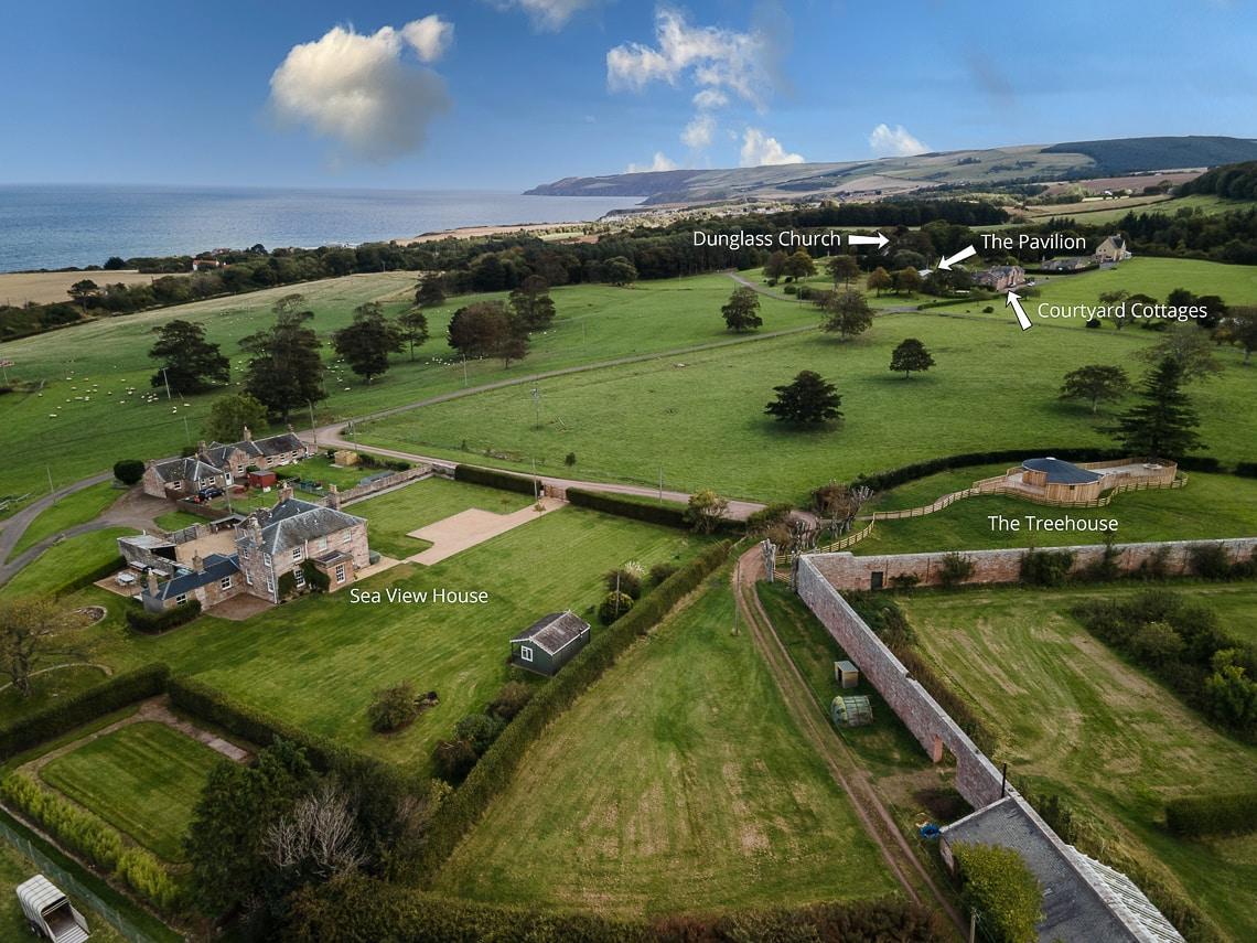 Aerial view of Dunglass Estate-1000