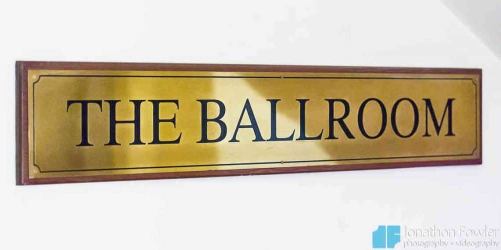 Balbirnie Ballroom Sign
