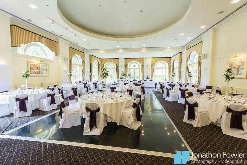 Balbirnie House Ballroom daytime wedding breakfast