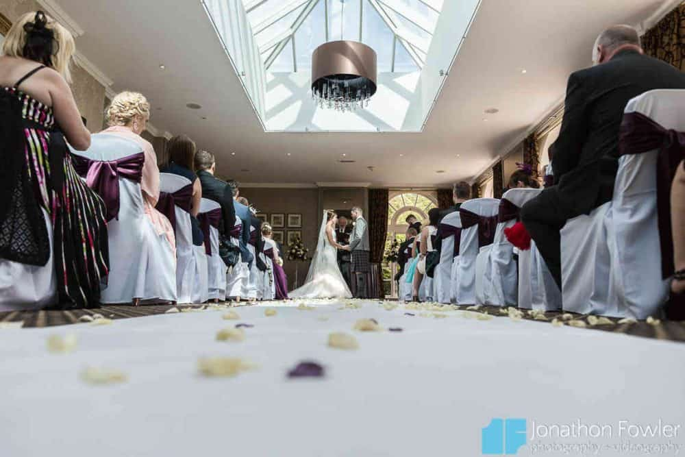 Balbirnie House Orangery wedding ceremony