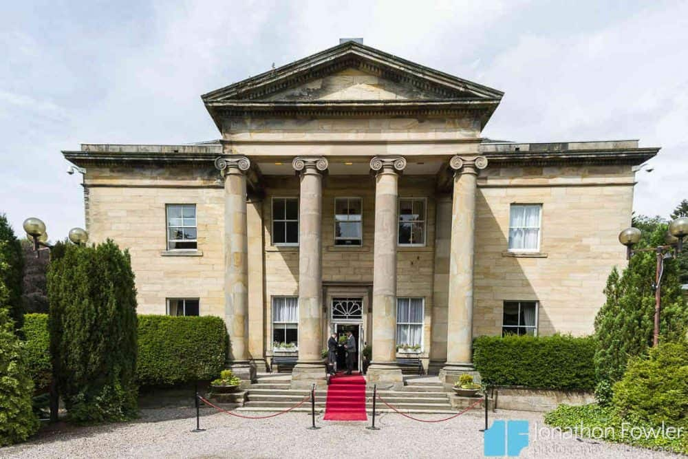 Balbirnie House Wedding Venue In Fife - view of front entrance