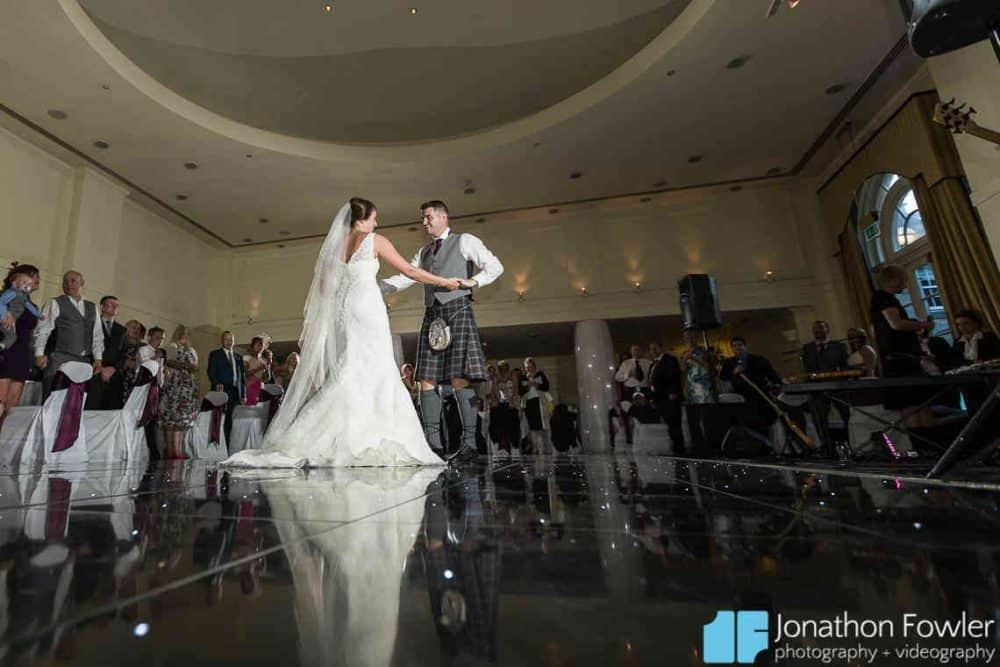 Balbirnie House ballroom newly-wed first dance photo