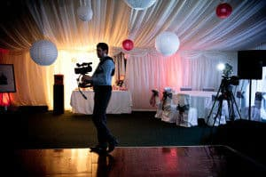 filming newly-weds' first dance at Harburn House