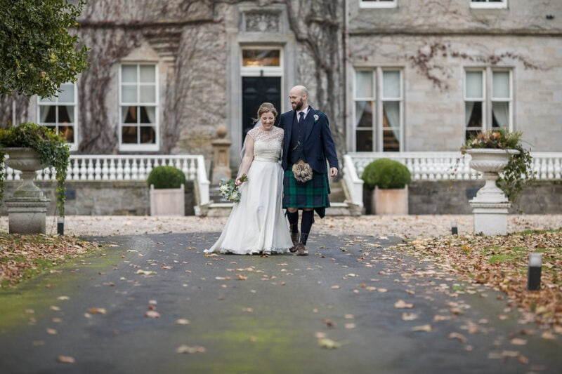Carlowrie Castle newlywed couple