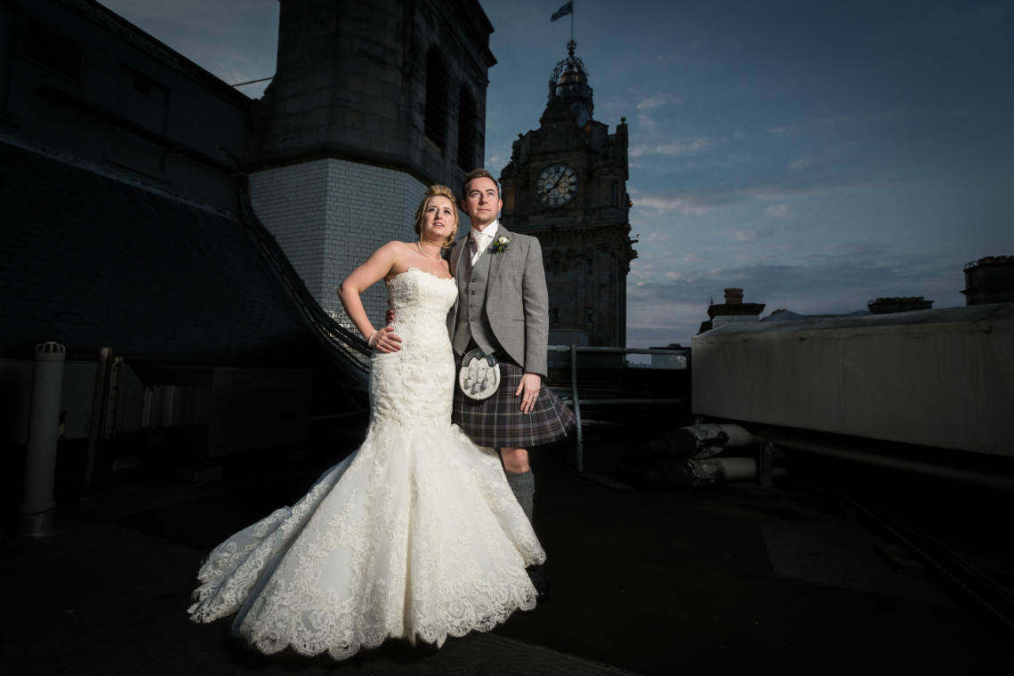 Balmoral Hotel wedding Photos Jamie and Michelle