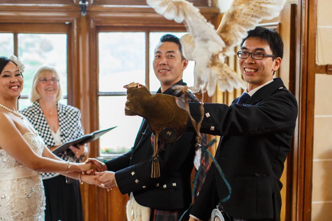 Dalhousie Castle wedding photographer - 10