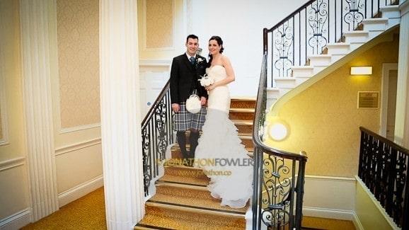Wendy and James Dalmahoy Hotel wedding