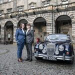 newly-weds with car in Quadrant