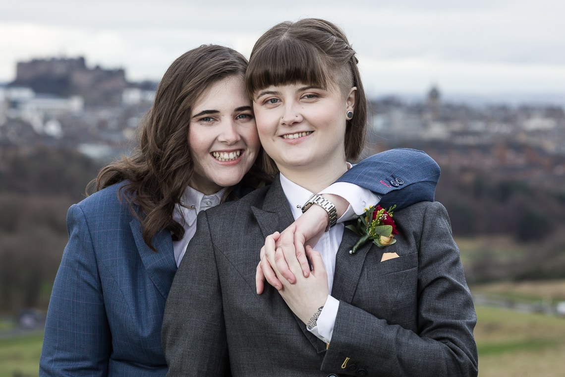 Edinburgh City Chambers Wedding Photographer with Rebecca and Becky