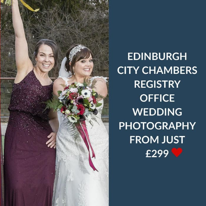 Edinburgh City Chambers Wedding Photography Price