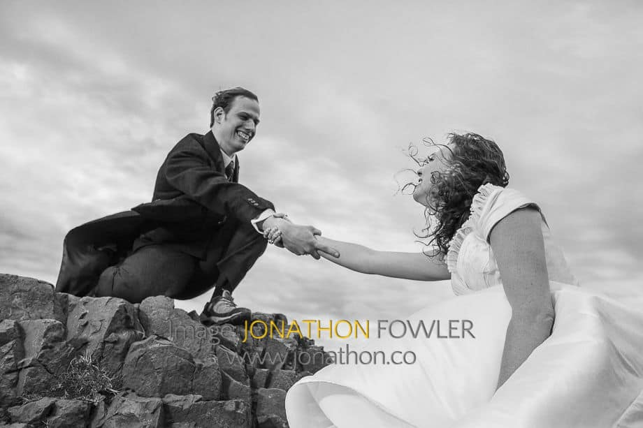 Arthur's Seat trash the dress photo shoot -1013