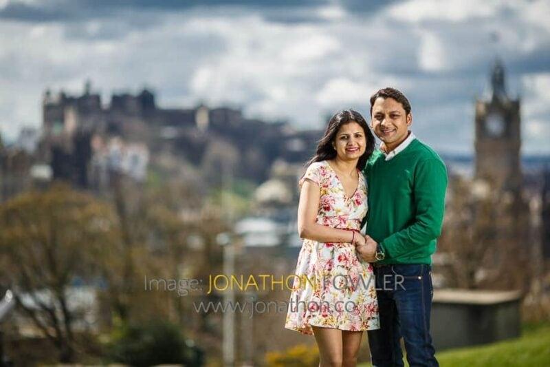 Pre-wedding Photo Shoot At Calton Hill Edinburgh Padmini and Rajat