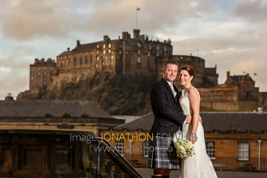 George Heriot's school wedding photos Karen and Stefan