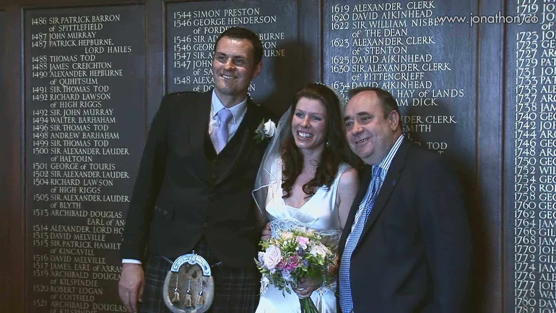 Alex Salmond wedding visit