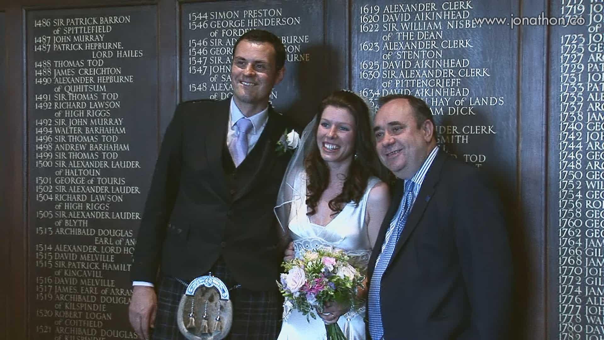 Alex Salmond wedding visit