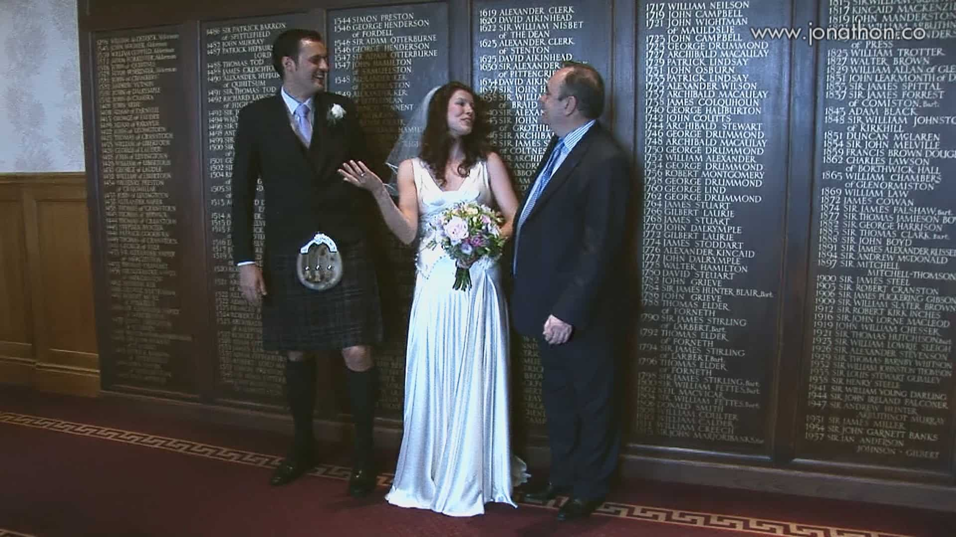 Edinburgh wedding video