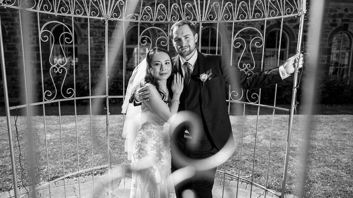 Eskmills Venue Wedding - Winnie and Jonathan in the birdcage