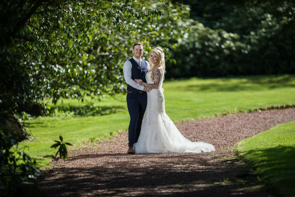 Norton House Hotel Wedding photographer - Andrew and Amber newlywed photo