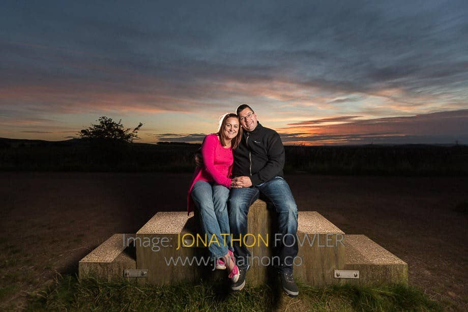 Couple Photography - A Beautiful Sunset At Harlaw Reservoir With Lynsey And Keith
