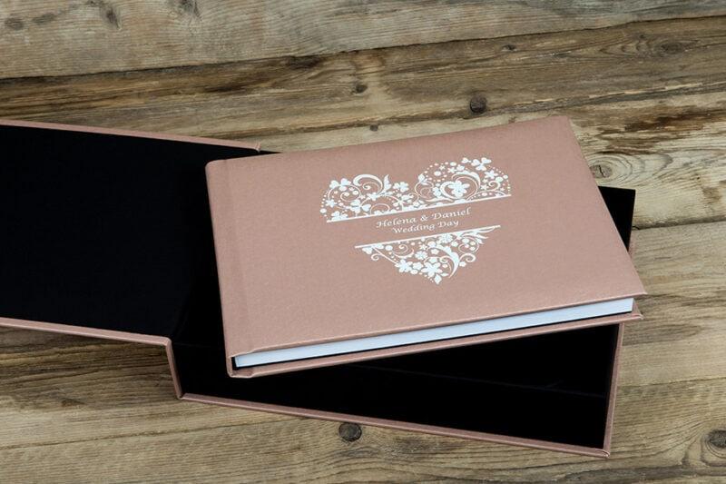 Wedding album cover and box example