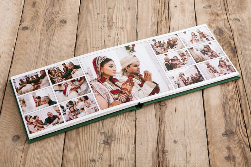 Wedding album pages spread