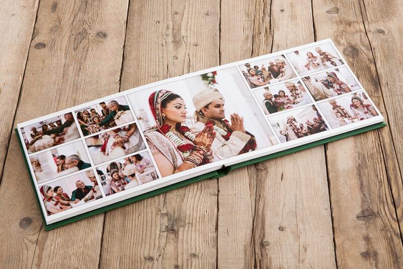 Wedding album pages spread