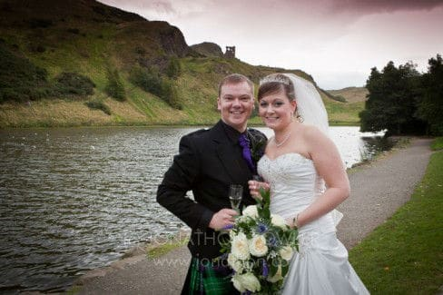 Claire and Jamie Our Dynamic Earth wedding