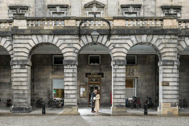 Kenny and Sarah Edinburgh City Chambers Wedding Photographer