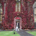 Liberton Kirk And Edinburgh George Hotel Wedding Photos - Lynn and Alex at the door of Liberton Kirk
