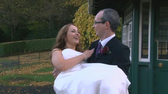 newly-weds Fiona and Stuart