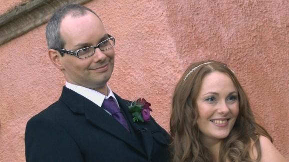 newly-weds Stuart and Fiona