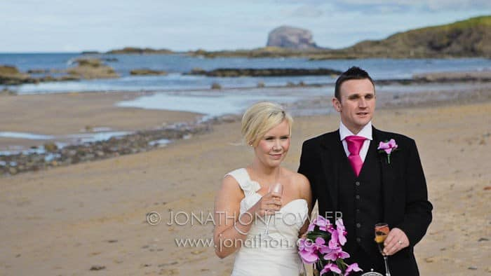 Kirsty and Peter's North Berwick wedding videographer