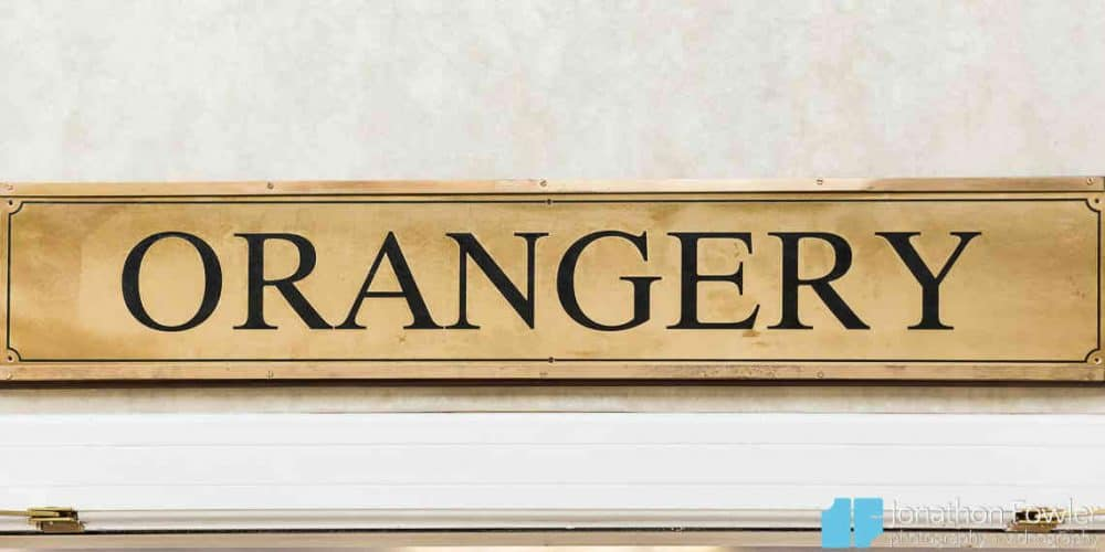 Orangery Sign