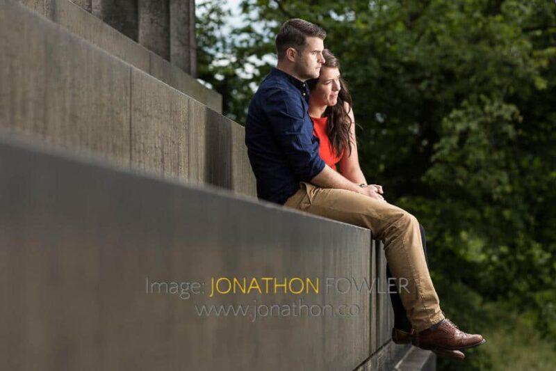 pre-wedding photo shoot Calton Hill Diane and Robert 01