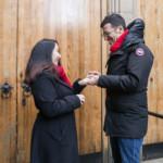 Efraim and Lisa – wedding proposal Edinburgh