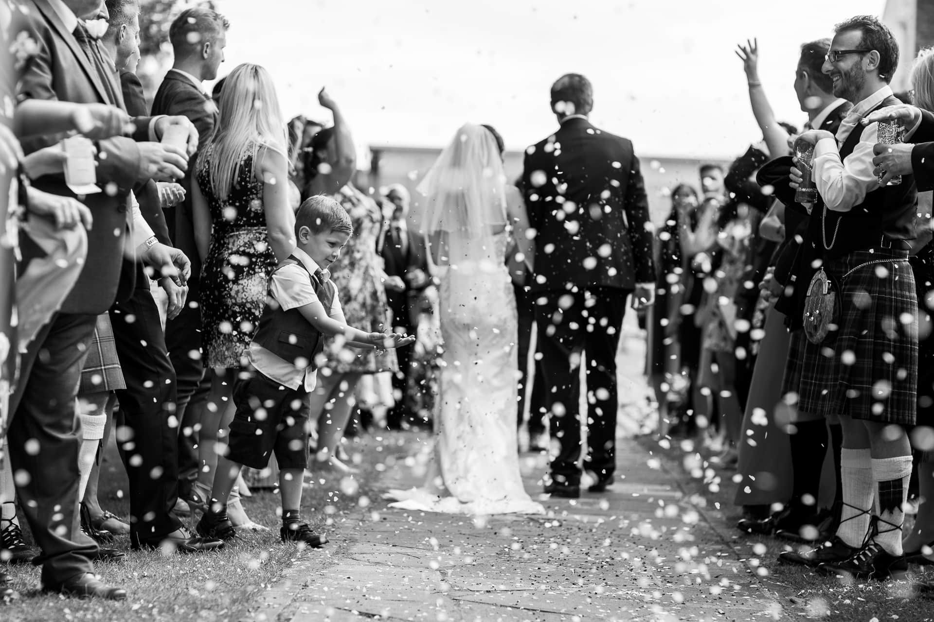 Edinburgh Wedding Photographer and Videographer Scotland - Confetti photo