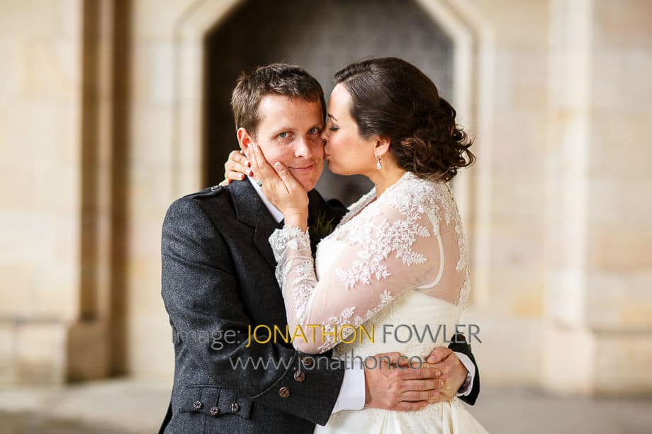 wedding at St Salvator's Chapel wedding photos