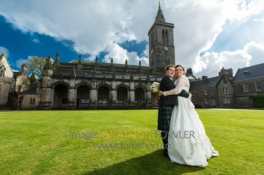 Melissa and Gordon's St Salvator's Chapel wedding