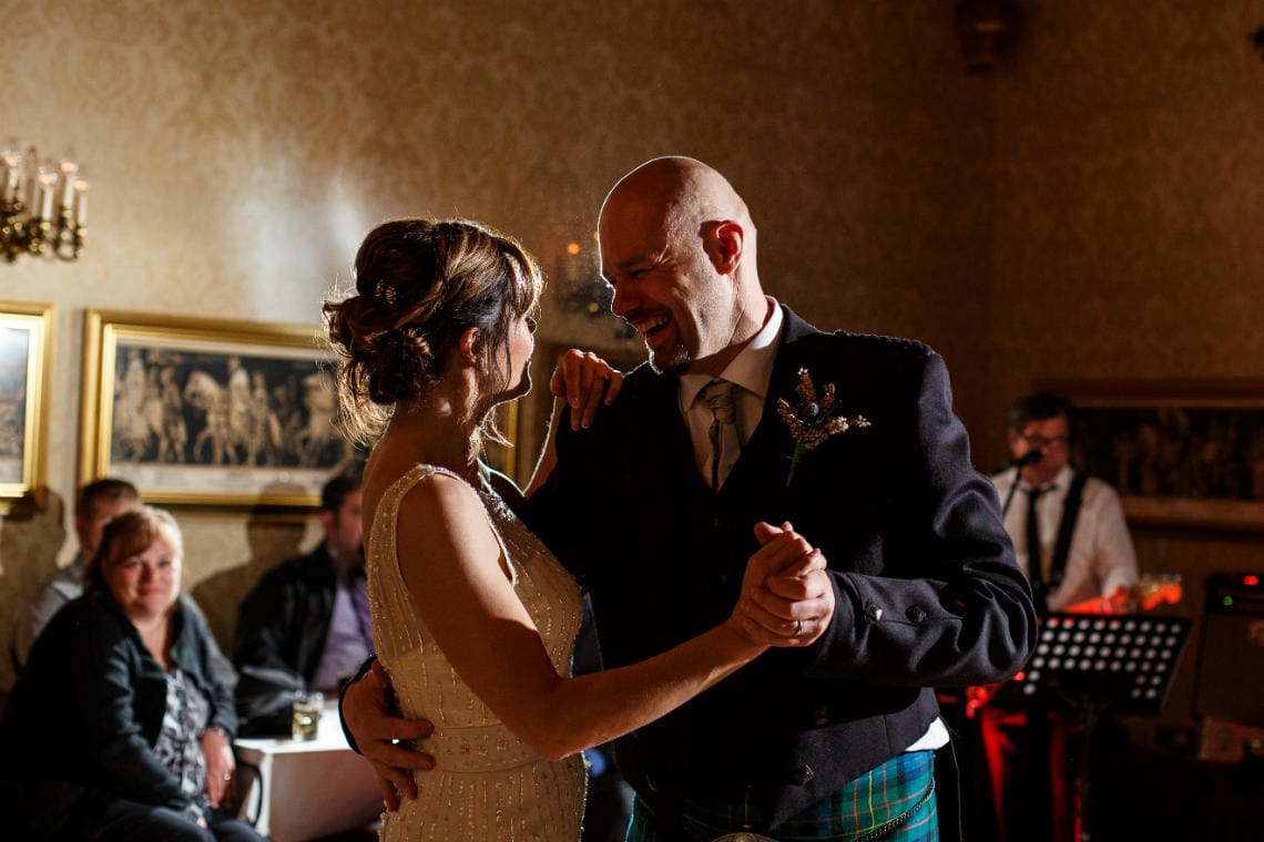newlywed's first dance in The Sir Alexander Room