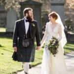 Amy and Calum – Greyfriars Kirk and Waldorf Astoria Edinburgh – The Caledonian Hotel