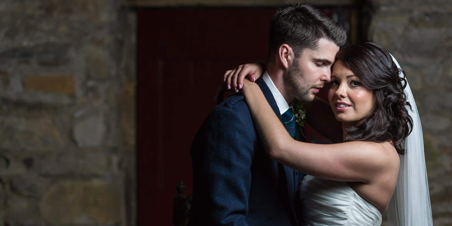 Wedding photographer Scotland - Glencorse House newlyweds Wayne and Lauren