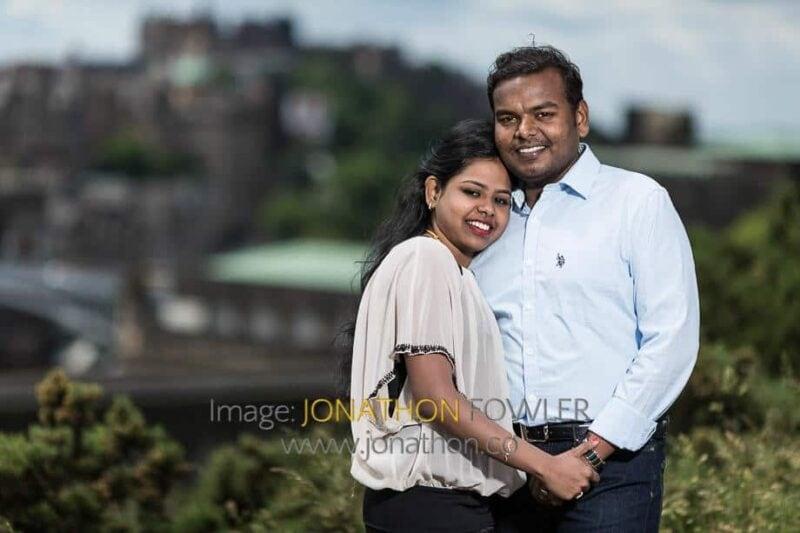 Calton Hill Couple Photographs Sumana and Vel 068